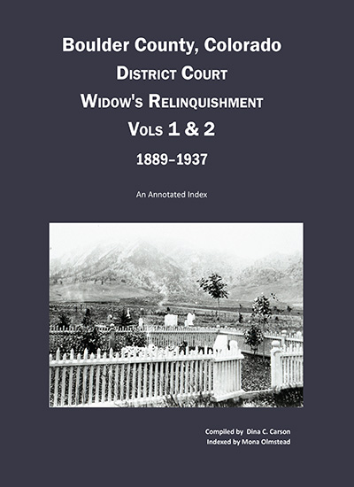 Widow's Relinquishments
